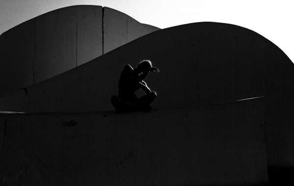 outline, רקדנית, שחור לבן